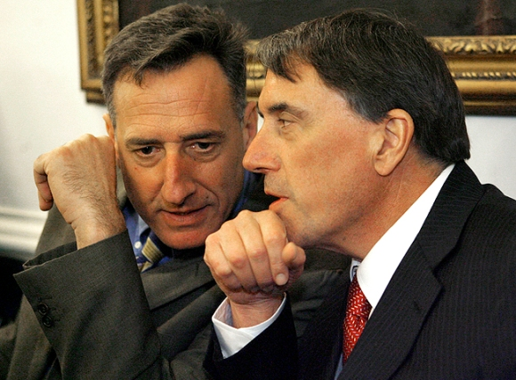 MEDICARE MESS: Outgoing Democratic state Sen. Peter Galbraith (right) says Gov. Peter Shumlin's handling of Medicare is causing anxiety among seniors.